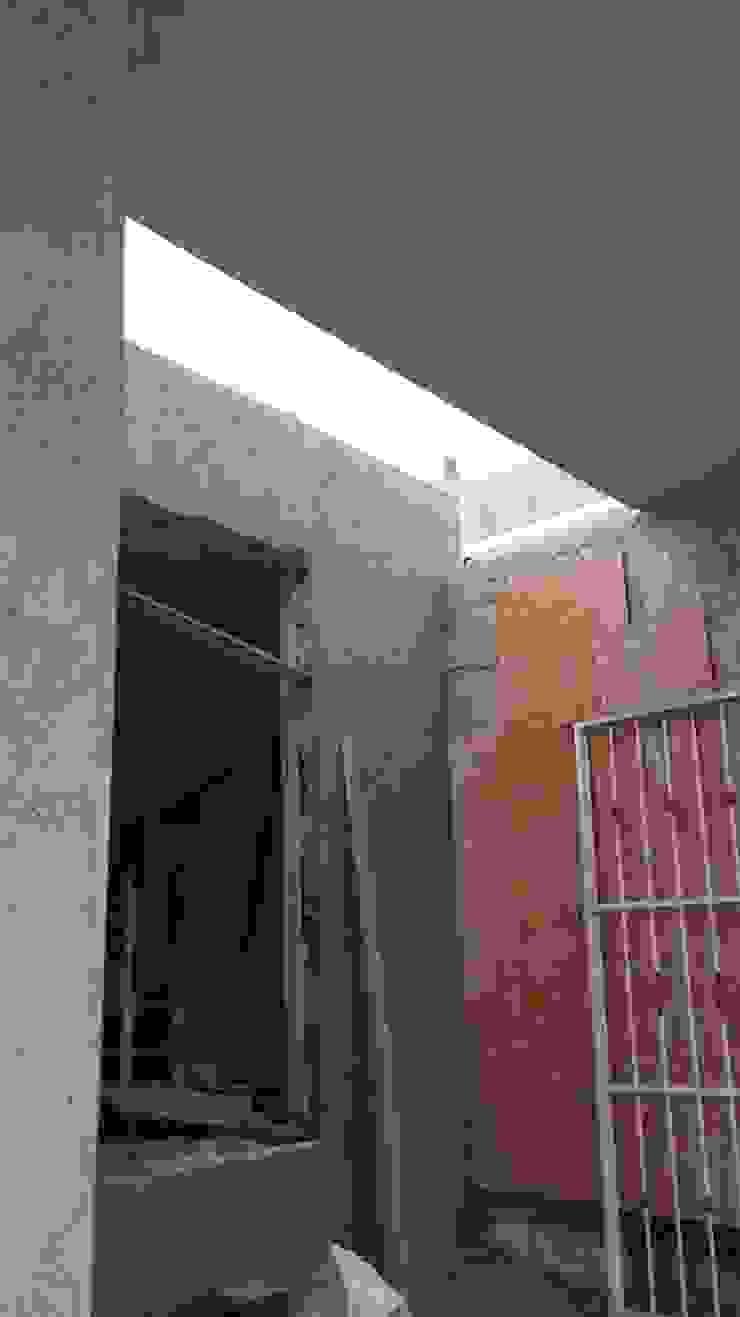 Modificaión de fachada interior de RecreARQ Construcciones