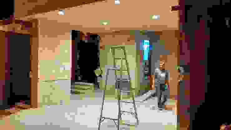 Detalles pruebas de iluminación de RecreARQ Construcciones