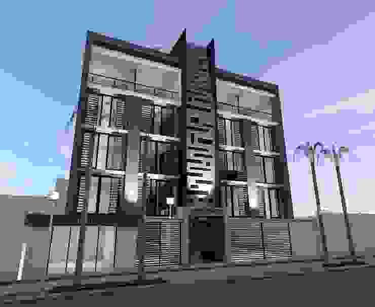 Conjunto Habitacional <q>Los Pinos</q> Casas modernas de Lima Arquitectos Moderno Concreto