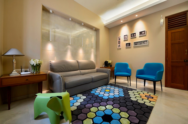 homify Modern living room Tiles Multicolored