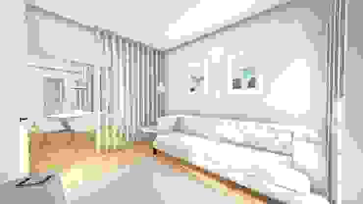 Sala de estar - Revisão de projecto Salas de estar modernas por Arq. Duarte Carvalho Moderno