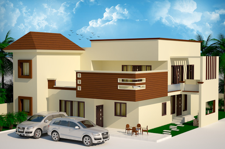 residence Ar. Sukhpreet K Channi Rustic style houses