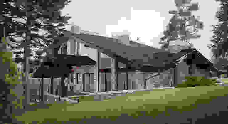 Шале в к.г.Канадской деревне от Архитектурно-дизайнерская мастерская Бреуса Алексея Кантри
