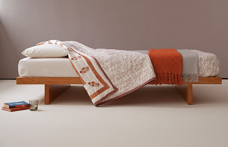 Kyoto Bed Natural Bed Company BedroomBeds & headboards Than củi Orange