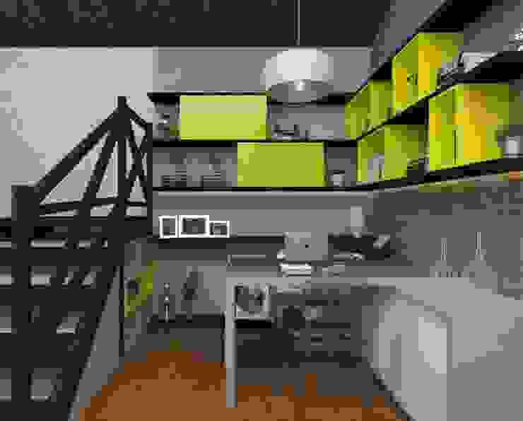 Рабочие кабинеты в . Автор – Vitral Studio Arquitetura, Модерн