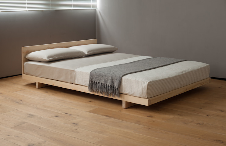 The Kobe Bed de Natural Bed Company Asiático Madera maciza Multicolor