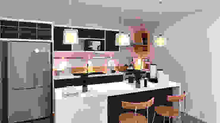 Interiores Cocina Cocinas de estilo moderno de Laboratorio Mexicano de Arquitectura Moderno Cerámico
