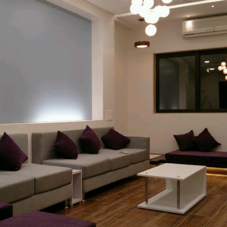living room seating by VUE DESIGN