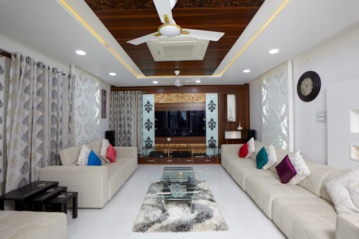 Dr Rafique Mawani's Residence Minimalist living room by M B M architects Minimalist