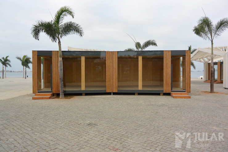 Minimalist commercial spaces by Jular Madeiras Minimalist Wood Wood effect