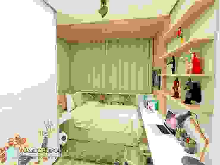 Quarto de menino Arquiteta Jéssica Hoegenn - Arquitetura de Interiores Quarto infantil moderno Efeito de madeira