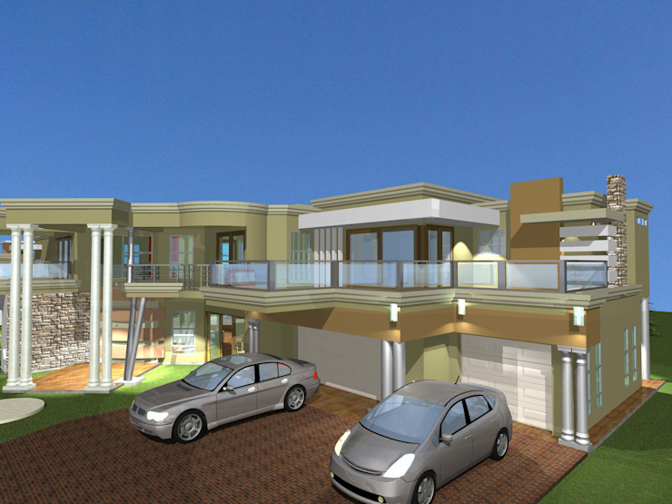 Contemporary House plan by iRON B HOME DESIGN