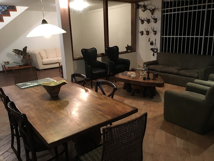 Casa El Cafetal Salas de estilo rústico de THE muebles Rústico