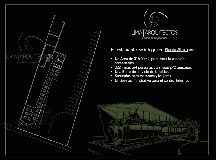 Modern houses by Lima Arquitectos Modern Metal