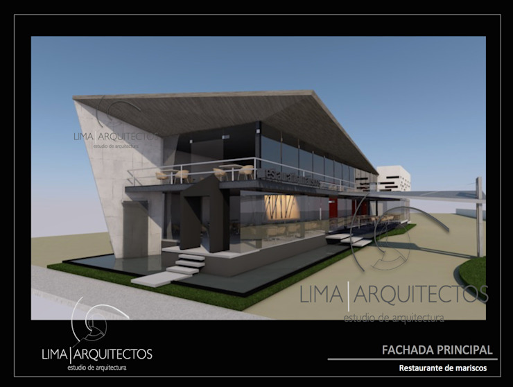 Modern houses by Lima Arquitectos Modern Concrete