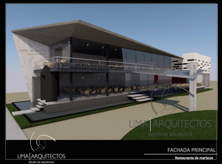 Modern houses by Lima Arquitectos Modern Glass
