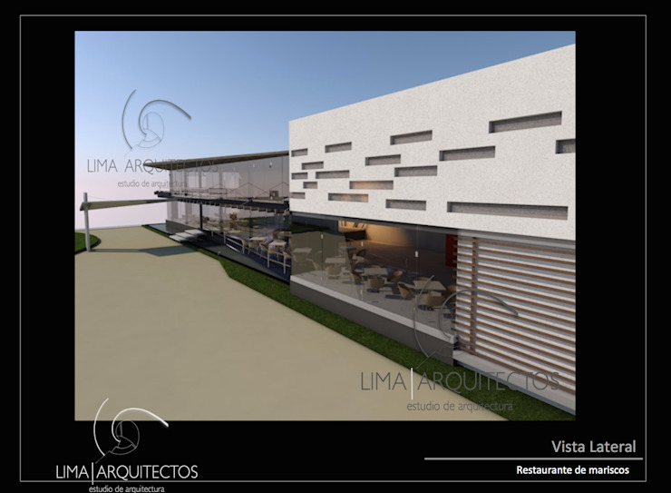 Modern houses by Lima Arquitectos Modern Plastic