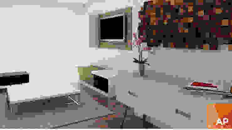 Sala TV AParquitectos Salas/RecibidoresMuebles para televisión y equipos Madera Azul