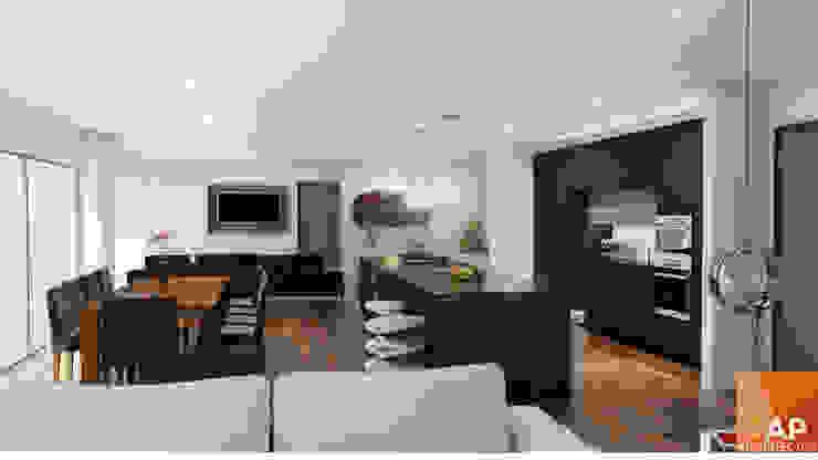 Cocina, Sala TV, comedor AParquitectos CocinaEstanterías y gavetas