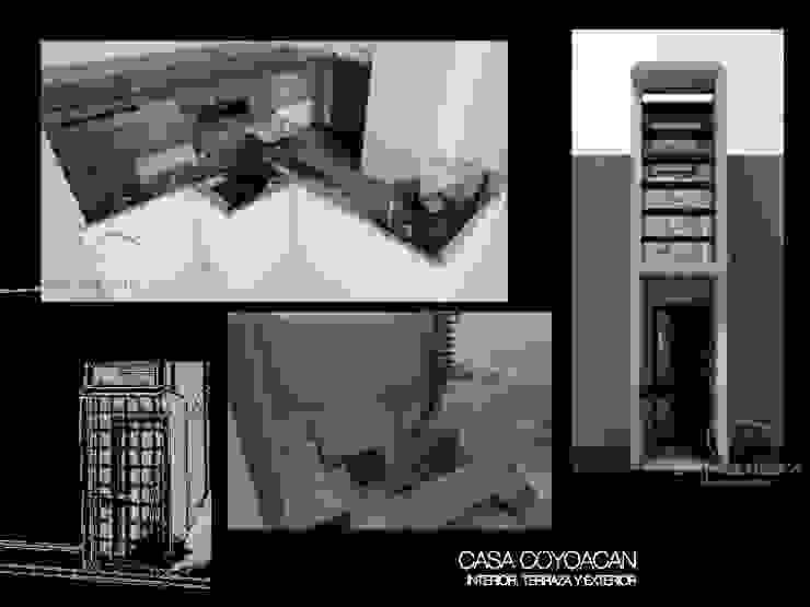CASA COYOACAN Balcones y terrazas minimalistas de Lima Arquitectos Minimalista Concreto