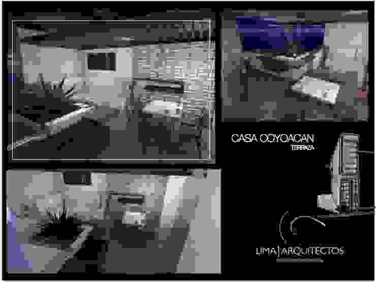 CASA COYOACAN Balcones y terrazas modernos de Lima Arquitectos Moderno Madera Acabado en madera