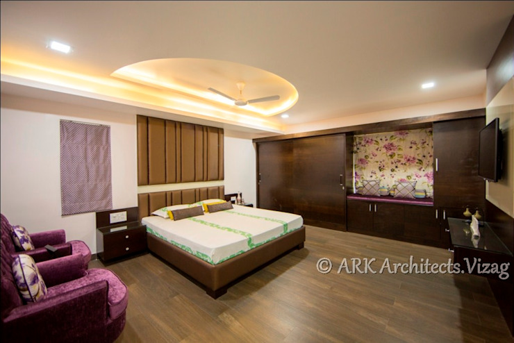 Bunglow at VIP Road Modern style bedroom by ARK Architects & Interior Designers Modern