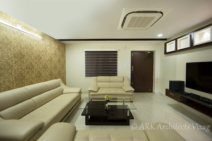Drawing room ARK Architects & Interior Designers Modern corridor, hallway & stairs