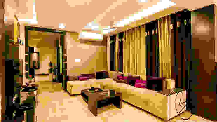 A Duplex Apartment, Raipur Modern living room by ESHA GARG : Interior Designer Modern