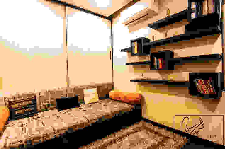A Duplex Apartment, Raipur Modern study/office by ESHA GARG : Interior Designer Modern