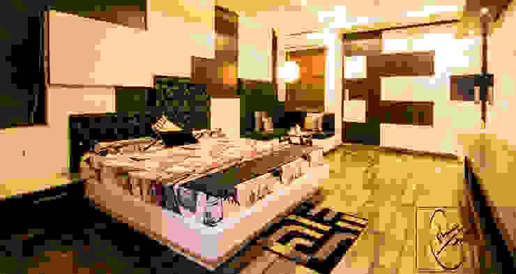 A Duplex Apartment, Raipur Modern style bedroom by ESHA GARG : Interior Designer Modern