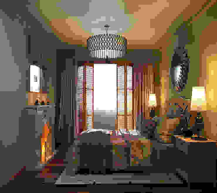 ПОБЕРЕЖЬЕ ТОСКАНЫ Спальня в эклектичном стиле от GraniStudio Эклектичный