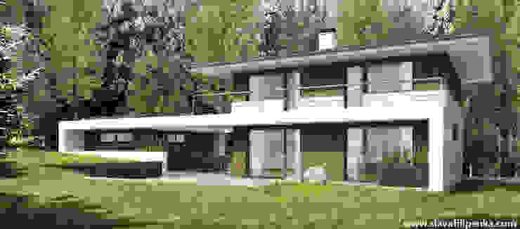 Casas de estilo escandinavo de Slava Filipenka architect Escandinavo