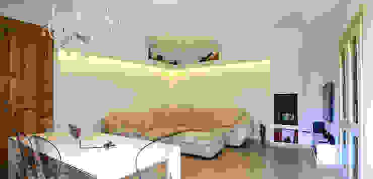 Minimal Living Vs. Liberty! Soggiorno minimalista di Luca Bucciantini Architettura d' interni Minimalista