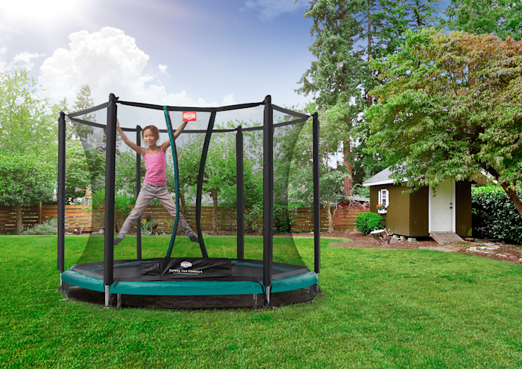 BERG InGround Talent 180/240/300 + Safety Net Comfort BERG Toys B.V. Country style garden Plastic Green