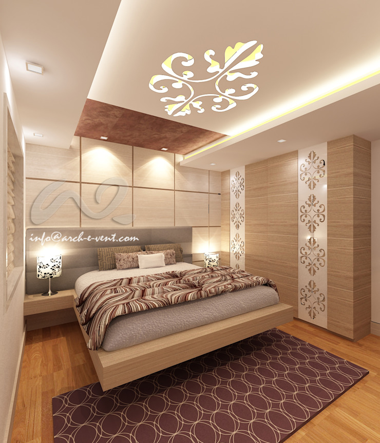 The Jeweler's Tiara Modern style bedroom by Arch-e-Vent Modern