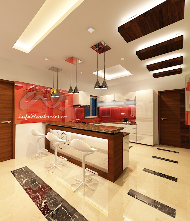 The Jeweler's Tiara Modern kitchen by Arch-e-Vent Modern