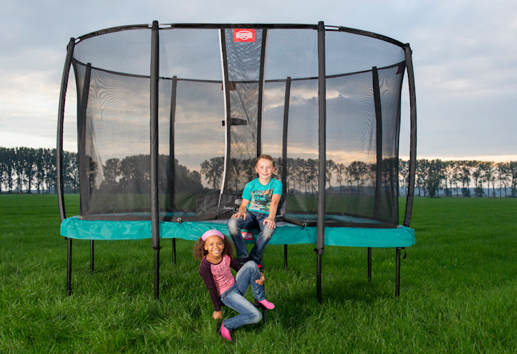 BERG EazyFit + Safety Net Deluxe Country style garden by BERG Toys B.V. Country Aluminium/Zinc