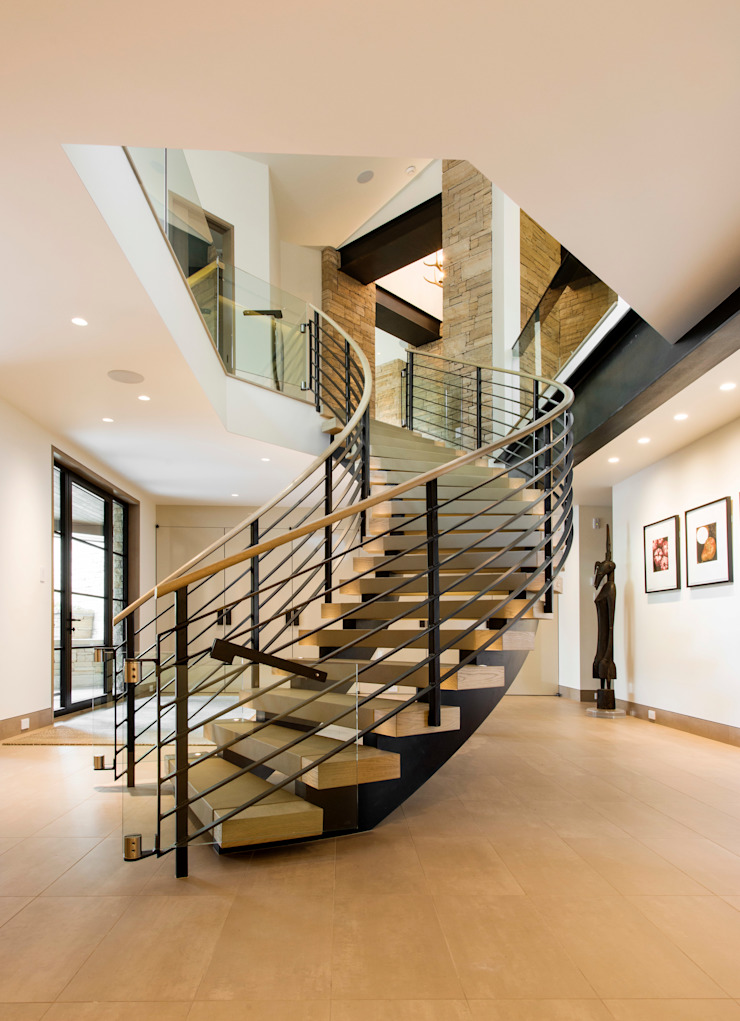 Modern Corridor, Hallway and Staircase by EeStairs | Stairs and balustrades Modern Wood Wood effect