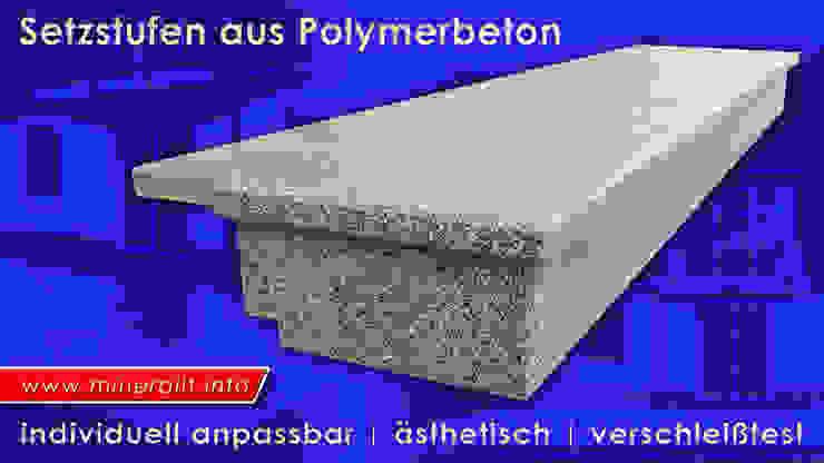 Treppensanierung mit Setzstufen aus Mineralit von Mineralit - Mineralgusswerk Laage GmbH Ausgefallen Granit