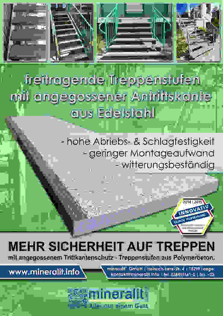 mehr Sicherheit auf Treppen Moderne Stadien von Mineralit - Mineralgusswerk Laage GmbH Modern