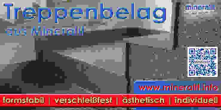Treppenbelag aus verschleißfreiem Polymerbeton: modern  von Mineralit - Mineralgusswerk Laage GmbH,Modern
