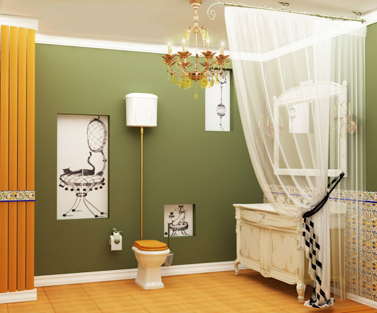 Colonial style bathroom by ЙОХ architects Colonial