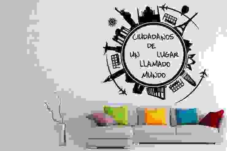 Vinilo ciudadanos del mundo de Vinilos Decorativos .com Moderno