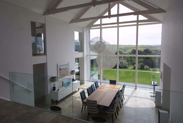 REPLACEMENT DWELLING, CORNWALL Modern dining room by Arco2 Architecture Ltd Modern