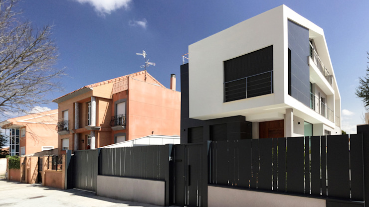Houses by arqubo arquitectos, Modern Ceramic
