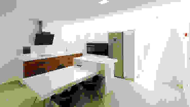 Moderne keukens van arqubo arquitectos Modern Hout Hout