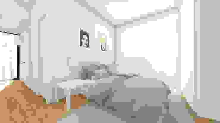 Interior - Apartamento tipo - Quarto Quartos modernos por Arq. Duarte Carvalho Moderno