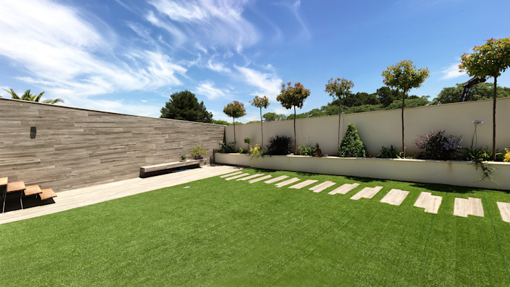 Modern style gardens by arqubo arquitectos Modern Ceramic