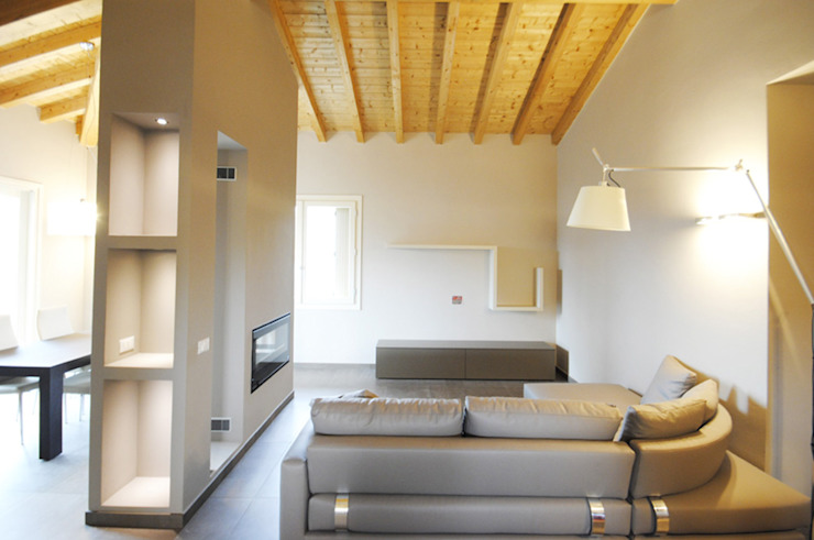 Modern Oturma Odası MCArc Laboratorio di architettura sostenibile Modern
