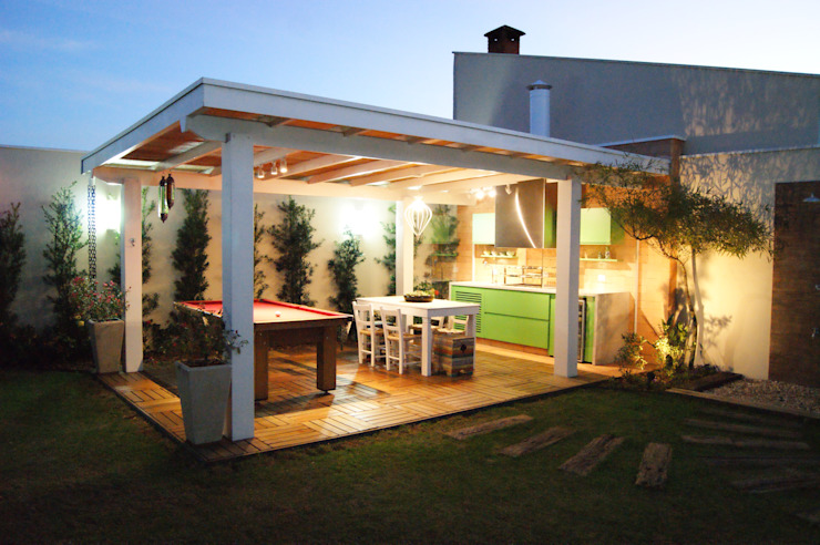 Balcon, Veranda & Terrasse modernes par Lozí - Projeto e Obra Moderne